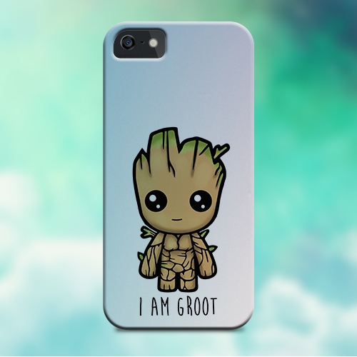 Cover iPhone Guardiani Della Galassia Baby Groot Cute Pink